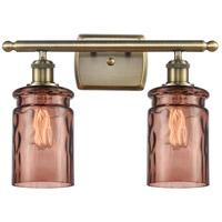 Innovations Lighting 516-2W-AB-G352-TOF Candor 2 Light 16 inch Antique Brass Bath Vanity Light Wall Light, Ballston