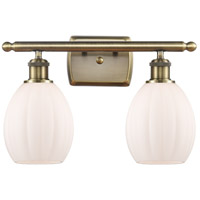 Innovations Lighting 516-2W-AB-G81 Eaton 2 Light 16 inch Antique Brass Bath Vanity Light Wall Light, Ballston