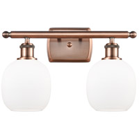 Innovations Lighting 516-2W-AC-G101 Belfast 2 Light 16 inch Antique Copper Bath Vanity Light Wall Light Ballston