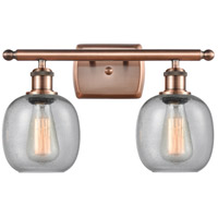 Innovations Lighting 516-2W-AC-G104 Belfast 2 Light 16 inch Antique Copper Bath Vanity Light Wall Light Ballston