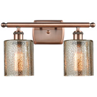 Innovations Lighting 516-2W-AC-G116-LED Cobbleskill LED 16 inch Antique Copper Bath Vanity Light Wall Light Ballston