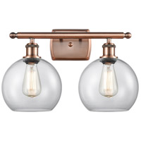 Innovations Lighting 516-2W-AC-G122-LED Athens LED 16 inch Antique Copper Bath Vanity Light Wall Light Ballston