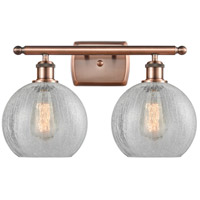 Innovations Lighting 516-2W-AC-G125 Athens 2 Light 16 inch Antique Copper Bath Vanity Light Wall Light Ballston