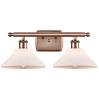 Innovations Lighting 516-2W-AC-G131-LED Orwell LED 18 inch Antique Copper Bath Vanity Light Wall Light, Ballston