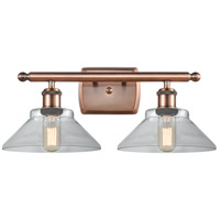 Innovations Lighting 516-2W-AC-G132-LED Orwell LED 18 inch Antique Copper Bath Vanity Light Wall Light Ballston