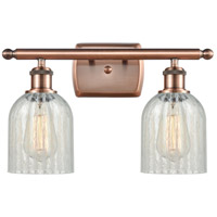 Innovations Lighting 516-2W-AC-G2511-LED Caledonia LED 16 inch Antique Copper Bath Vanity Light Wall Light Ballston