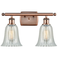 Innovations Lighting 516-2W-AC-G2811 Hanover 2 Light 16 inch Antique Copper Bath Vanity Light Wall Light Ballston