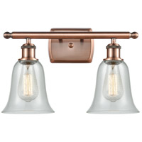 Innovations Lighting 516-2W-AC-G2812 Hanover 2 Light 16 inch Antique Copper Bath Vanity Light Wall Light Ballston