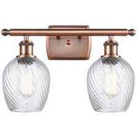 Innovations Lighting 516-2W-AC-G292-LED Salina LED 16 inch Antique Copper Bath Vanity Light Wall Light Ballston