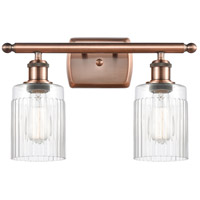 Innovations Lighting 516-2W-AC-G342 Hadley 2 Light 16 inch Antique Copper Bath Vanity Light Wall Light Ballston