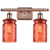 Innovations Lighting 516-2W-AC-G352-COR Candor 2 Light 16 inch Antique Copper Bath Vanity Light Wall Light, Ballston