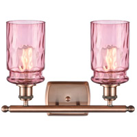 Innovations Lighting 516-2W-AC-G352-LIL Candor 2 Light 16 inch Antique Copper Bath Vanity Light Wall Light, Ballston alternative photo thumbnail