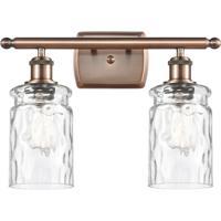 Innovations Lighting 516-2W-AC-G352-LED Candor LED 16 inch Antique Copper Bath Vanity Light Wall Light, Ballston