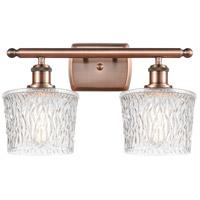 Innovations Lighting 516-2W-AC-G402 Niagra 2 Light 16 inch Antique Copper Bath Vanity Light Wall Light, Ballston