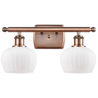 Innovations Lighting 516-2W-AC-G91 Fenton 2 Light 16 inch Antique Copper Bath Vanity Light Wall Light Ballston