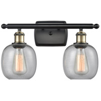 Innovations Lighting 516-2W-BAB-G104 Belfast 2 Light 16 inch Black Antique Brass Bath Vanity Light Wall Light Ballston