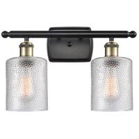 Innovations Lighting 516-2W-BAB-G112-LED Cobbleskill LED 16 inch Black Antique Brass Bath Vanity Light Wall Light, Ballston