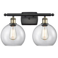 Innovations Lighting 516-2W-BAB-G122 Athens 2 Light 16 inch Black Antique Brass Bath Vanity Light Wall Light Ballston