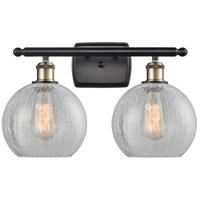 Innovations Lighting 516-2W-BAB-G125 Athens 2 Light 16 inch Black Antique Brass Bath Vanity Light Wall Light, Ballston