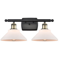 Innovations Lighting 516-2W-BAB-G131-LED Orwell LED 18 inch Black Antique Brass Bath Vanity Light Wall Light Ballston