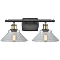 Innovations Lighting 516-2W-BAB-G132-LED Orwell LED 18 inch Black Antique Brass Bath Vanity Light Wall Light, Ballston