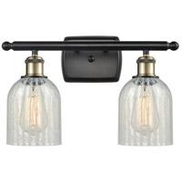 Innovations Lighting 516-2W-BAB-G2511-LED Caledonia LED 16 inch Black Antique Brass Bath Vanity Light Wall Light, Ballston