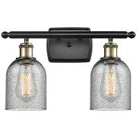 Innovations Lighting 516-2W-BAB-G257-LED Caledonia LED 16 inch Black Antique Brass Bath Vanity Light Wall Light, Ballston