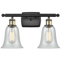 Innovations Lighting 516-2W-BAB-G2812 Hanover 2 Light 16 inch Black Antique Brass Bath Vanity Light Wall Light, Ballston