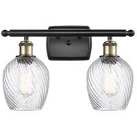 Innovations Lighting 516-2W-BAB-G292-LED Salina LED 16 inch Black Antique Brass Bath Vanity Light Wall Light, Ballston