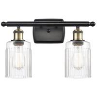 Innovations Lighting 516-2W-BAB-G342-LED Hadley LED 16 inch Black Antique Brass Bath Vanity Light Wall Light, Ballston