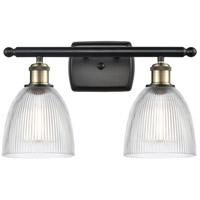 Innovations Lighting 516-2W-BAB-G382-LED Castile LED 16 inch Black Antique Brass Bath Vanity Light Wall Light, Ballston