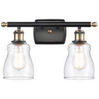 Innovations Lighting 516-2W-BAB-G392-LED Ellery LED 16 inch Black Antique Brass Bath Vanity Light Wall Light Ballston