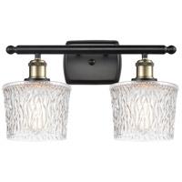Innovations Lighting 516-2W-BAB-G402-LED Niagra LED 16 inch Black Antique Brass Bath Vanity Light Wall Light Ballston