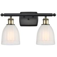 Innovations Lighting 516-2W-BAB-G441-LED Brookfield LED 16 inch Black Antique Brass Bath Vanity Light Wall Light, Ballston