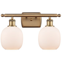 Innovations Lighting 516-2W-BB-G101 Belfast 2 Light 16 inch Brushed Brass Bath Vanity Light Wall Light Ballston