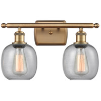 Innovations Lighting 516-2W-BB-G104 Belfast 2 Light 16 inch Brushed Brass Bath Vanity Light Wall Light Ballston