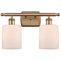 Innovations Lighting 516-2W-BB-G111-LED Cobbleskill LED 16 inch Brushed Brass Bath Vanity Light Wall Light Ballston