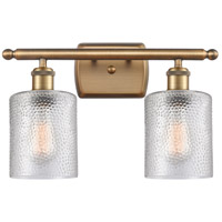 Innovations Lighting 516-2W-BB-G112-LED Cobbleskill LED 16 inch Brushed Brass Bath Vanity Light Wall Light Ballston