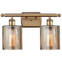 Innovations Lighting 516-2W-BB-G116-LED Cobbleskill LED 16 inch Brushed Brass Bath Vanity Light Wall Light Ballston