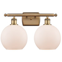 Innovations Lighting 516-2W-BB-G121 Athens 2 Light 16 inch Brushed Brass Bath Vanity Light Wall Light Ballston