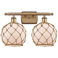 Brushed Brass Rope Bathroom Vanity Lights