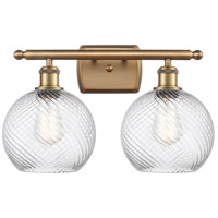 Innovations Lighting 516-2W-BB-G1214-8 Twisted Swirl 2 Light 16 inch Brushed Brass Bath Vanity Light Wall Light Ballston