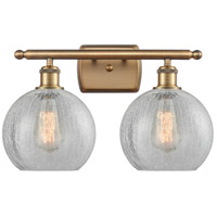 Innovations Lighting 516-2W-BB-G125 Athens 2 Light 16 inch Brushed Brass Bath Vanity Light Wall Light Ballston