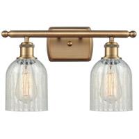 Innovations Lighting 516-2W-BB-G2511-LED Caledonia LED 16 inch Brushed Brass Bath Vanity Light Wall Light, Ballston
