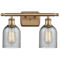 Innovations Lighting 516-2W-BB-G257-LED Caledonia LED 16 inch Brushed Brass Bath Vanity Light Wall Light, Ballston