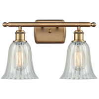 Innovations Lighting 516-2W-BB-G2811 Hanover 2 Light 16 inch Brushed Brass Bath Vanity Light Wall Light Ballston