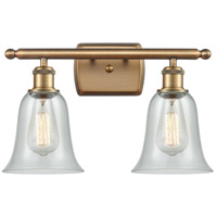 Innovations Lighting 516-2W-BB-G2812 Hanover 2 Light 16 inch Brushed Brass Bath Vanity Light Wall Light Ballston