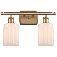 Innovations Lighting 516-2W-BB-G341-LED Hadley LED 16 inch Brushed Brass Bath Vanity Light Wall Light Ballston