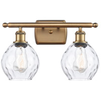 Innovations Lighting 516-2W-BB-G362-LED Small Waverly LED 16 inch Brushed Brass Bath Vanity Light Wall Light Ballston