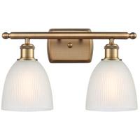Innovations Lighting 516-2W-BB-G381-LED Castile LED 16 inch Brushed Brass Bath Vanity Light Wall Light, Ballston